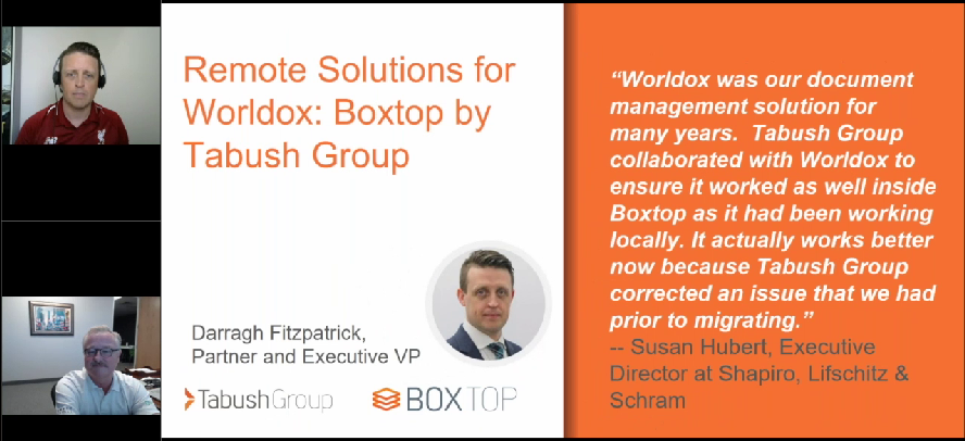 Replay: Remote Solutions for Worldox: Boxtop by Tabush Group
