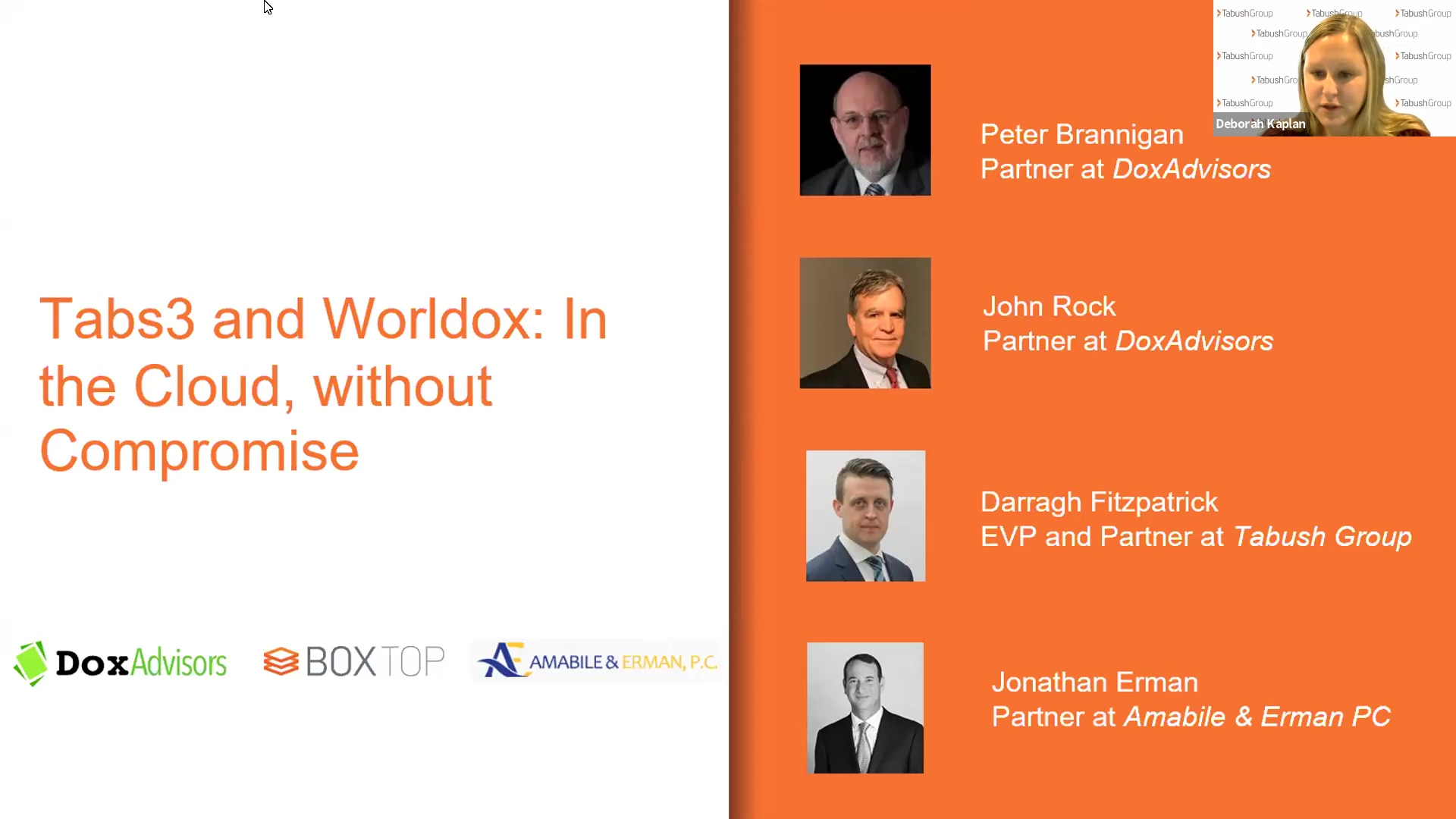 Replay: Tabs3 and Worldox: In the Cloud, without Compromise