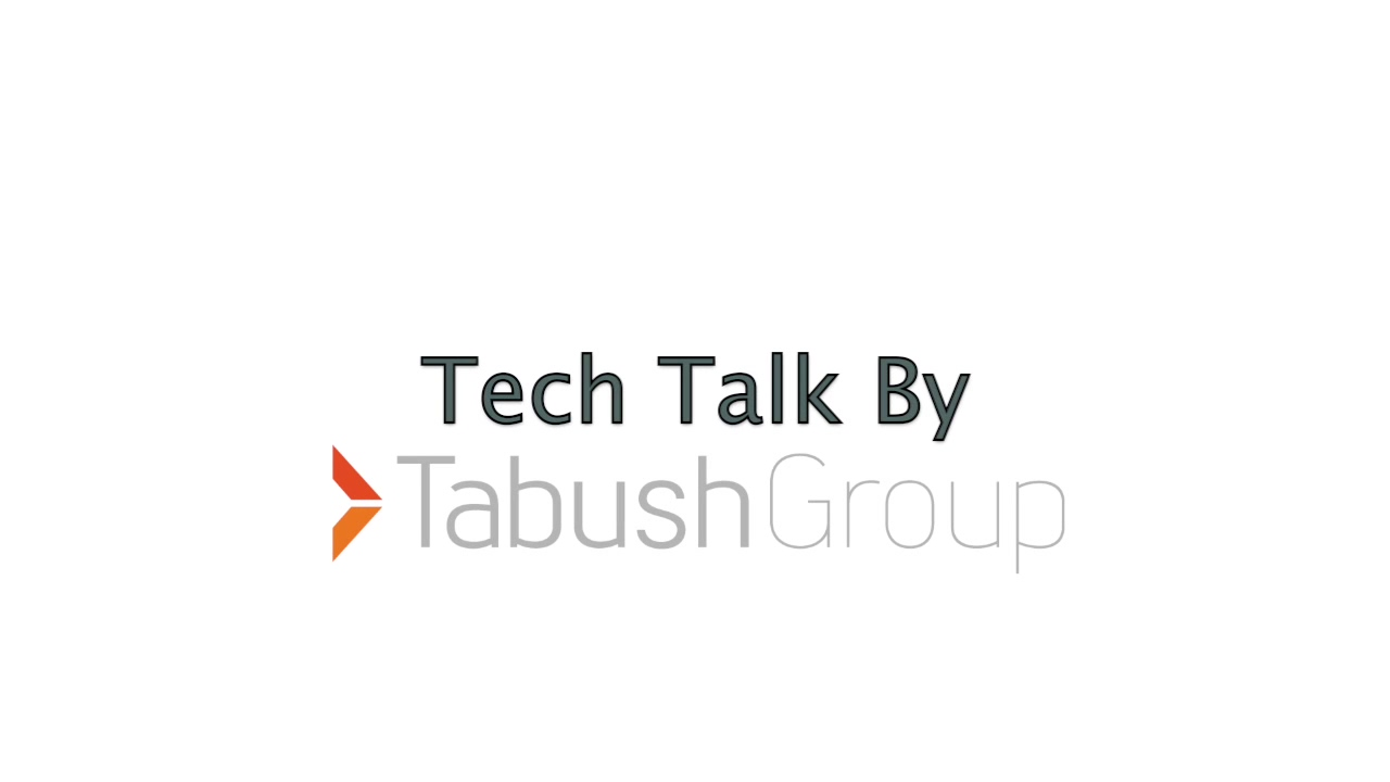 Tabush Group's Tech Talk Video Series - Maxons Restorations